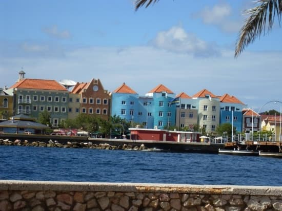 Dutch architecture along Willemstad's harbor.