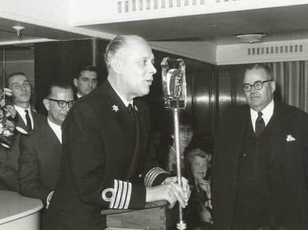 One of the Captain's jobs. giving Speeches.
