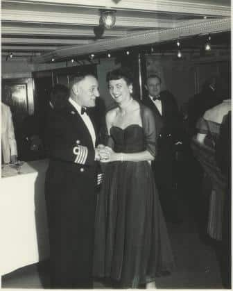 Captains Reception during the voyage