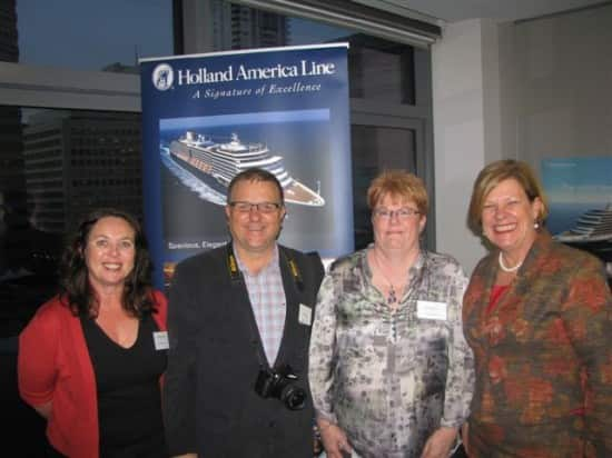 From left: Ros Hunter (ICCA) Bruce Piper (Travel Daily), Julie Donaldson (ICCA) and Carnival Australia CEO Ann Sherry.