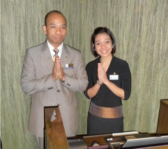 Panca and Mira greet guests and ensure an exceptional experience at Tamarind.