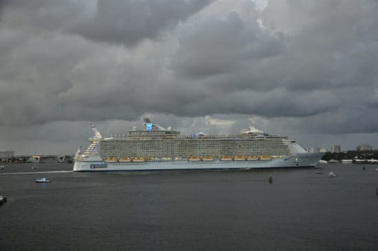 The Allure of the Seas leaving from FL with 6,300 passengers and a crew of 2,384 on board.