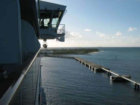 This photo was taken from our verandah as we were docking in Turk and Caicos.