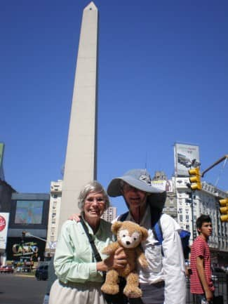 Myself, Humberto and Duffy with July 9 Avenue obelisk in the background.