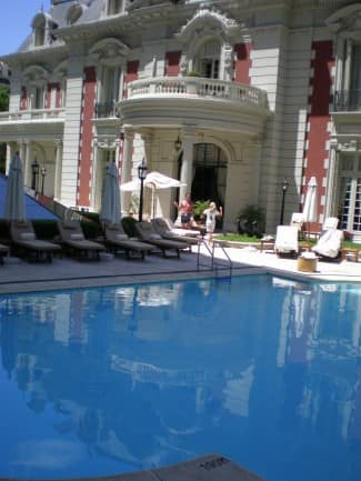 Pool at the Four Seasons Buenos Aires hotel.