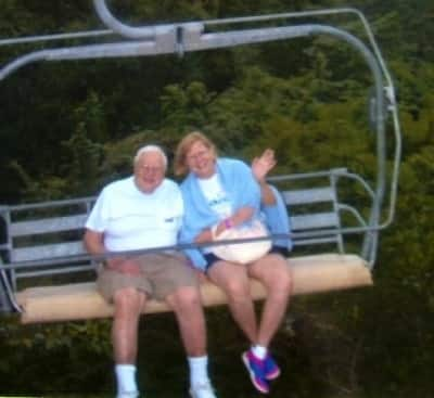 Stuart and Sandy chairlift.