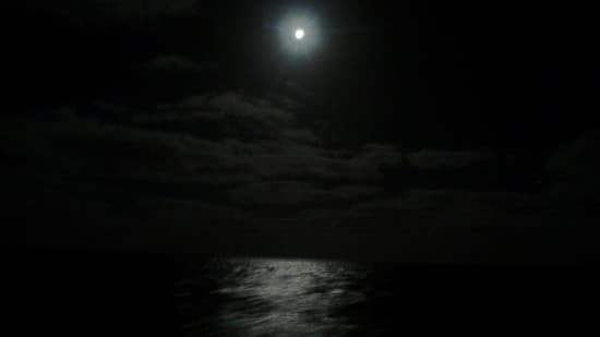 The beautiful full moon after the event.