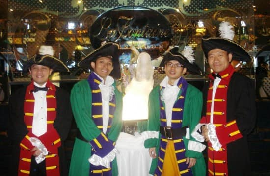 From left: Pande, Dimas, Rendra and me.
