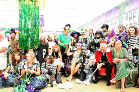 the Mardi gras participants