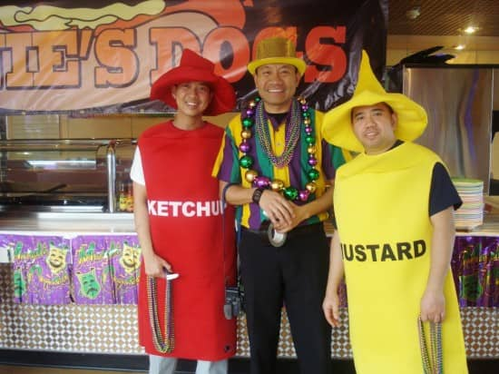 with Mr. Ketchup & Mr. Mustard