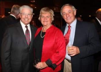 From left: Mariner Society Director Gerald Bernhoft (left) with Mariners Jan and Dick Yetke.