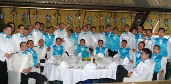 The dining room staff