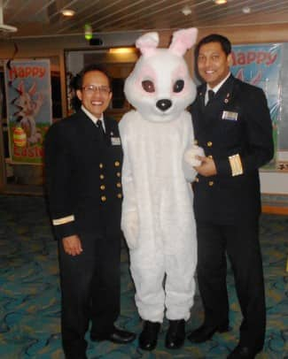 Alex and Colin with the Easter bunny.