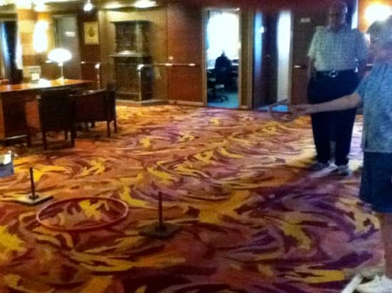 Me playing ring toss in the Atrium on Deck 3.