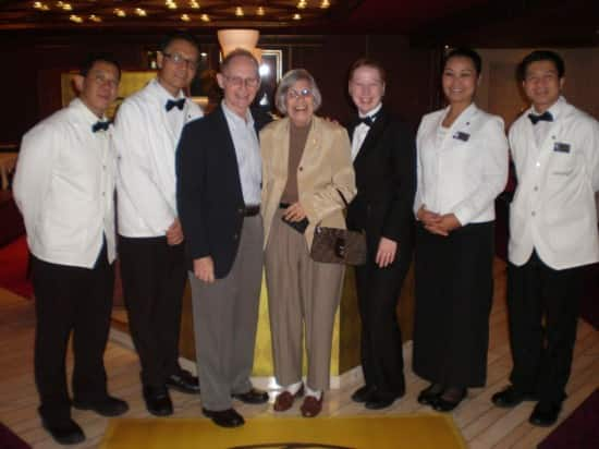 Pinnacle Grill manager Kim and wait staff.