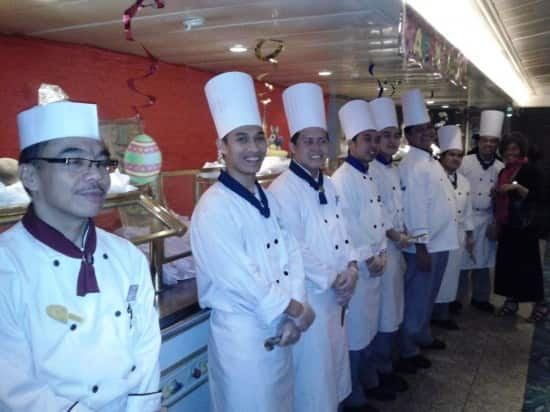 A snapshot of the chefs.