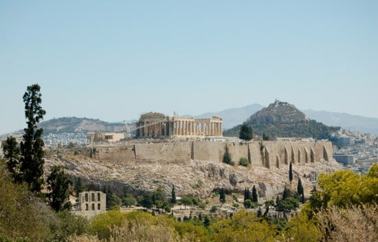 View of Akropolis from Mouseion Hill.