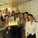 Prinsendam's Guest Relations Associates Celebrate New Title