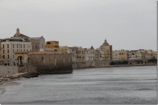 A look of Trapani from the boulevard.