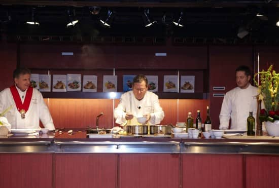 Chefs Charlie Trotter and Rudi Sodamin