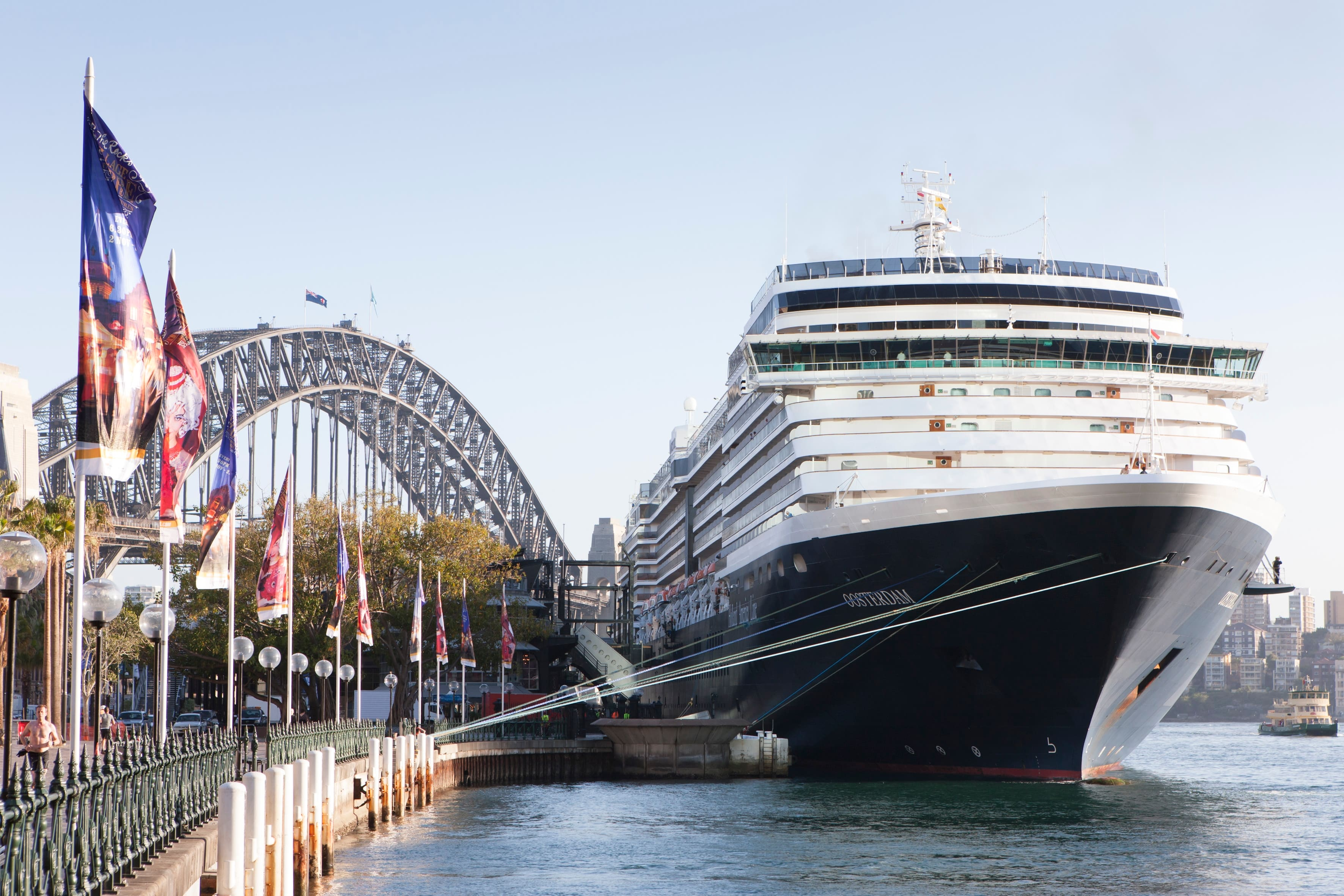 Celebration Of Oosterdams Arrival At Australia Holland America Blog - Cruise ship movements sydney harbour