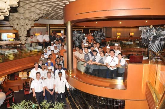A group shot of those who are currently onboard sailing on their very first contract.