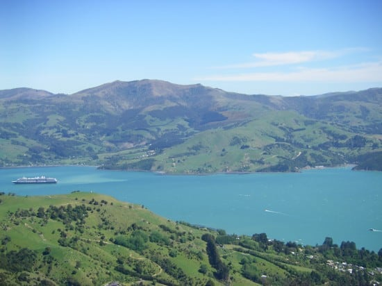 Oosterdam S First Visit To Akaroa New Zealand Holland