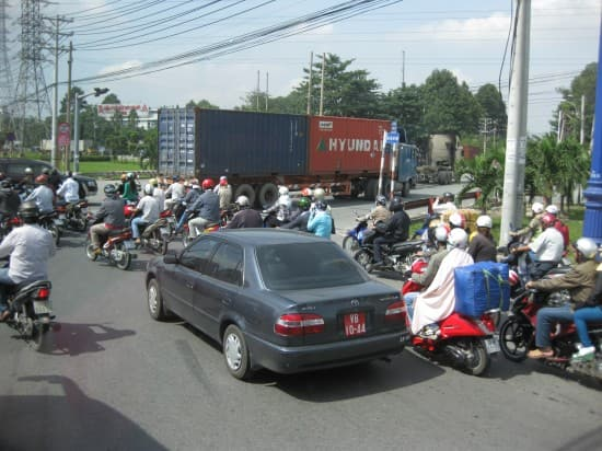 Typical traffic in Saigon.