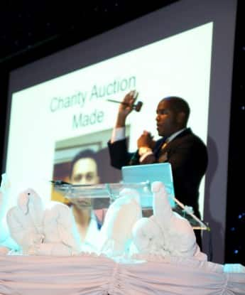 The  auctioneer.