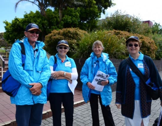 Albany Volunteers who helped us and other Volendam passengers who assisted us local advice.