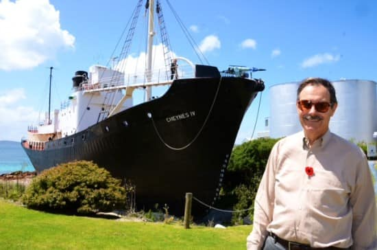 Al and the Whale-chaser Cheynes IV at Whale World.