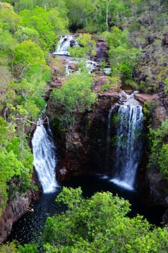 The double waterfalls  of The Florence Falls