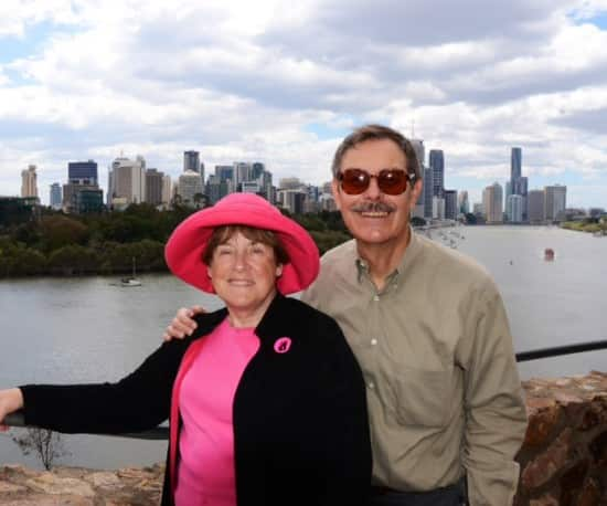 Al and I at Kangaroo Point on the South-Bank of Brisbane.