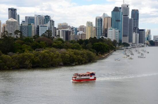 the Brisbane River from Kangaroo Point.