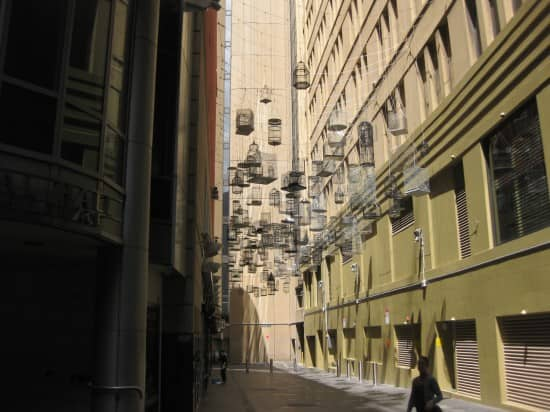 Birdcages in Alley – Sydney.
