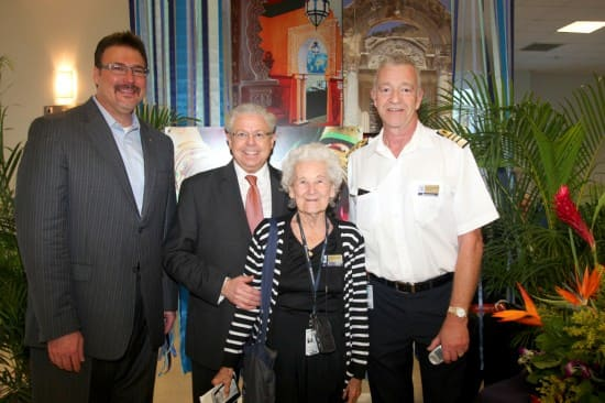 From left: Executive Vice President of Marketing, Sales and Guest Programs Rick Meadows, me, Dolly Smith and Captain Mercer.