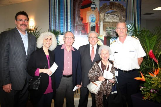 From left: Executive Vice President of Marketing, Sales and Guest Programs Rick Meadows, Fran Olson, Donald McGeehe, me, Julia Furston and Captain Jonathan Mercer.