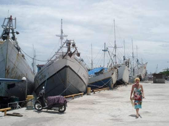 The traditional Schooners at Makassar, Indonesia.