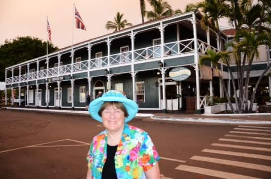 In front of the Pioneer Inn in Lahaina, Maui.