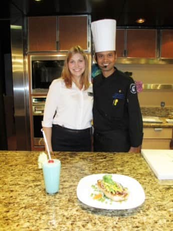 Culinary Arts Hostess Shannon and Chef Mani.