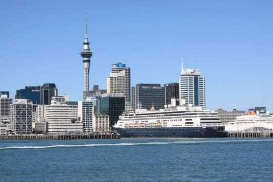 Amsterdam docked at Auckland.