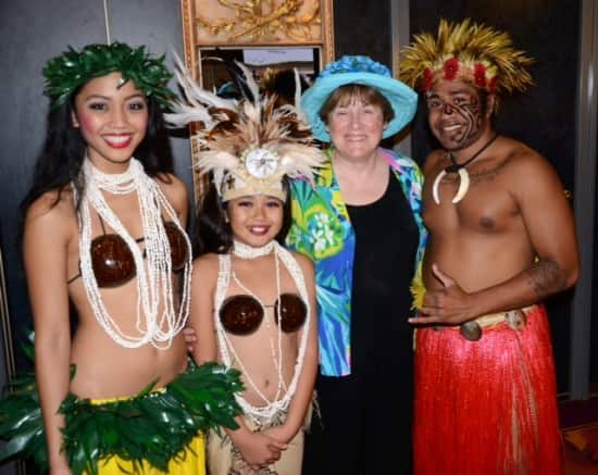 With some of the Drums of Polynesia performers.