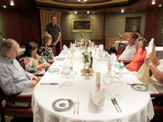 Pinnacle Grill Table set for Five-Star Mariner's Lunch.