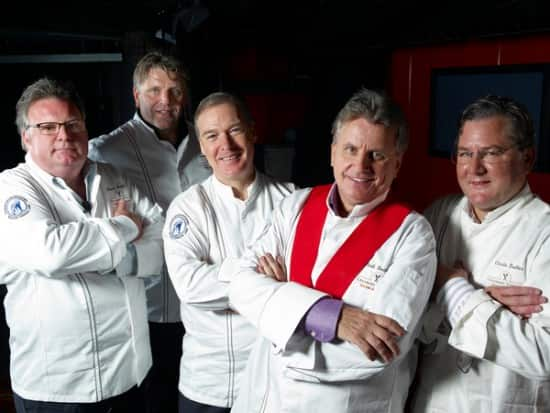 From left: David Burke, Jonnie Boer, Jacques Torres, Rudi Sodamin and Charlie Trotter.