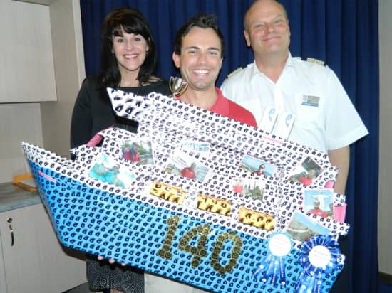 Winner of the Most Creative Ship: Neil Arnold, shore excursions.