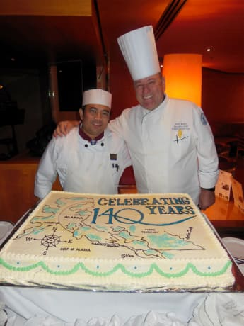 Zaandams Pastry Chef Creates a Birthday Cake for HAL Holland