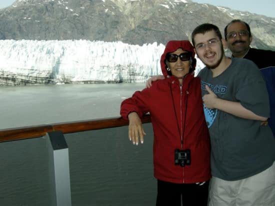 Mother in-law Suzi, with my son Cameron and husband Mory