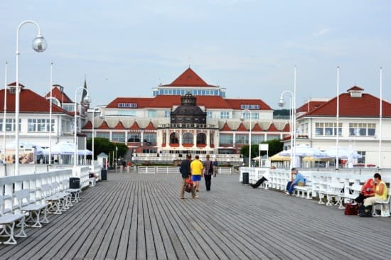 Grand Hotel from Sopot's long pier