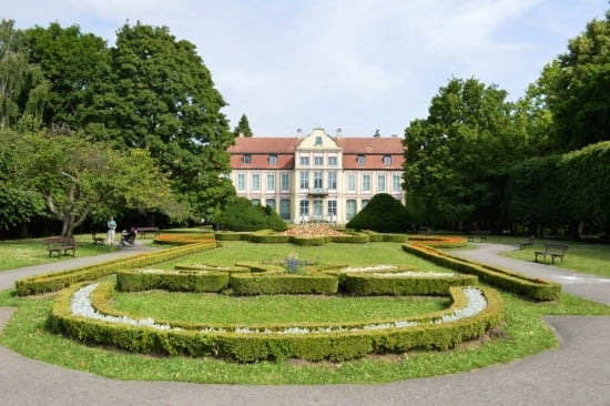 The Abbots Palace and French gardens in Oliwa's Adam Mickiewicz Park