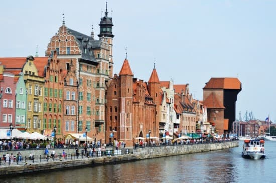 Gdansk – showing The Crane at the far right of the photo
